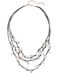 Kenneth Jay Lane   Black Faux Pearl, Tassel And Cord Necklace   Lyst