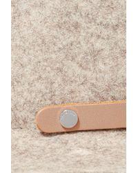 Rag & Bone - Natural Abbott Leather-trimmed Wool-felt Fedora - Lyst
