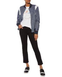 Adidas Originals - White Mesh-paneled Printed Cotton-blend T-shirt - Lyst