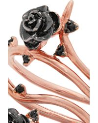 Noir Jewelry   Multicolor Desirous Rose-gold Tone Enamel Ring   Lyst