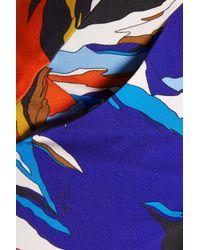 Emilio Pucci - Blue Printed Stretch-crepe Skinny Pants - Lyst