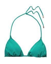 Calvin Klein - Green Triangle Bikini Top - Lyst