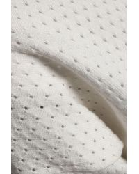 House of Dagmar - Multicolor Woman Open-knit Sweater Off-white - Lyst