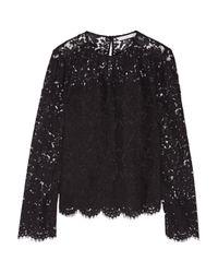 Diane von Furstenberg - Black Yeva Corded Lace Top - Lyst