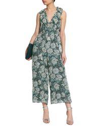 f9c2e2f3f2 Zimmermann Cropped Fil Coupé Floral-print Silk-blend Georgette ...