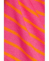 Petit Bateau | Pink Striped Cotton-jersey Top | Lyst