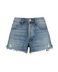 3x1 - Blue Distressed Denim Shorts - Lyst