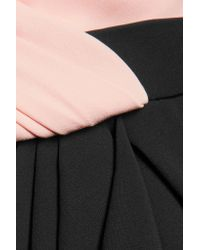 J. Mendel | Black Ruched Ruffled Silk-crepe Gown | Lyst