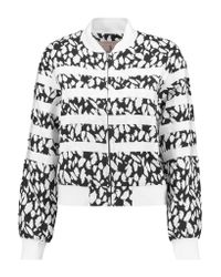 Goen.J - White Emebllished Jacquard And Grosgrain Jacket - Lyst