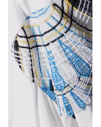 Peter Pilotto - White Off-the-shoulder Guipure Lace-trimmed Cotton-blend Midi Dress - Lyst