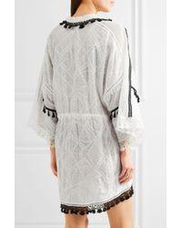Jonathan Simkhai - White Crochet-trimmed Embroidered Cotton-gauze Robe - Lyst