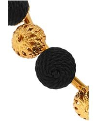 Dolce & Gabbana - Black Gold-plated And Woven Bangle - Lyst