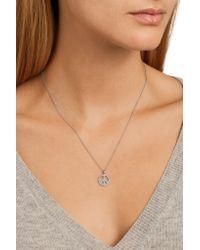 Ileana Makri - Metallic 18-karat White Gold Crystal Necklace - Lyst