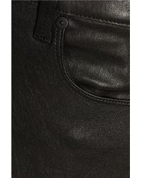 RTA - Black Dorian Distressed Leather Skinny Pants - Lyst