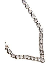 Elizabeth Cole Metallic Hematite-plated Swarovski Crystal Necklace