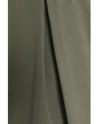 Halston Heritage - Pleated Twill Shorts Army Green - Lyst