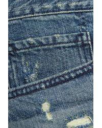 3x1 | Blue Distressed Denim Mini Shorts | Lyst