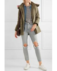 J.Crew | Green Collection Faux Fur-trimmed Cotton-canvas Parka | Lyst