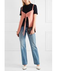 Marni - Pink Tie-front Crepe Top - Lyst