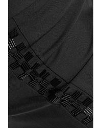Diane von Furstenberg - Black Marjie Embellished Stretch-wool Crepe Skinny Pants - Lyst