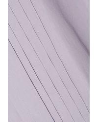 MM6 by Maison Martin Margiela | Purple Pintucked Cotton-poplin Shirt | Lyst