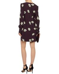 Goat - Multicolor Floral-print Crepe Mini Dress - Lyst