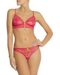 Elle Macpherson - Pink Beach Babe Stretch-lace Soft-cup Bra - Lyst