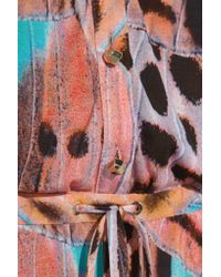 Matthew Williamson | Black Wings Printed Jersey Playsuit | Lyst