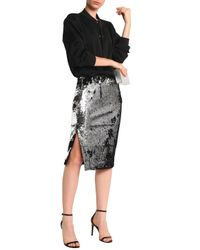 MILLY - Metallic Sequined Mesh Skirt - Lyst