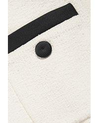 Moschino - White Satin Twill-trimmed Cotton-blend Bouclé-tweed Mini Dress - Lyst