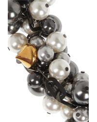 Vickisarge - Multicolor Rhapsody Gunmetal-plated Swarovski Pearl Necklace - Lyst