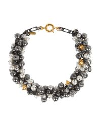 Vickisarge - Multicolor Rhapsody Gunmetal-plated Swarovski Pearl Necklace - Lyst