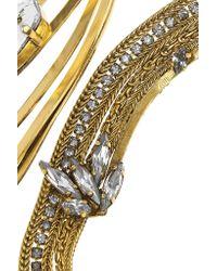 Erickson Beamon - Metallic Heart Of Gold Gold-plated Swarovski Crystal Necklace - Lyst
