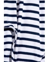 Splendid - White Striped Stretch-jersey Bodysuit - Lyst