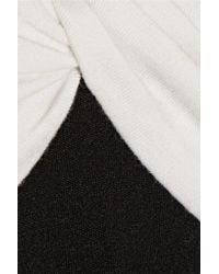 Diane von Furstenberg - Black Two-tone Wool-jersey Dress - Lyst