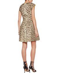 Roberto Cavalli | Multicolor Leopard-print Cotton-canvas Mini Dress Animal Print | Lyst