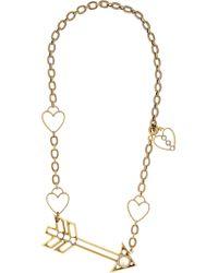 Lanvin - Metallic Gold-tone Swarovski Crystal Necklace - Lyst