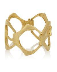 Alexander McQueen | Metallic Gold-plated Bracelet | Lyst