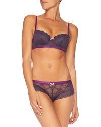 Heidi Klum - Purple Madeline Stretch-lace Contour Bra - Lyst