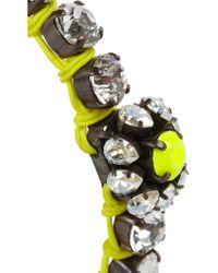 Shourouk - Metallic Baraka Flower Silver-plated Swarovski Crystal Bracelet - Lyst