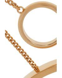 Chloé - Metallic Carly Gold-tone Finger Bracelet - Lyst