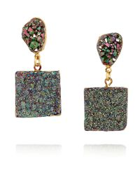 Dara Ettinger | Metallic Gold-plated Druzy Earrings | Lyst