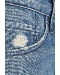 3x1 - Blue Faded Denim Shorts Mid Denim - Lyst