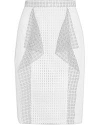 3.1 Phillip Lim | White Ruffled Broderie Anglaise Cotton Skirt | Lyst