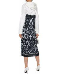Ganni - Sequined Tulle Midi Dress Sky Blue - Lyst