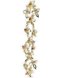Noir Jewelry - Metallic Woman Gold-tone Crystal Earrings Gold - Lyst