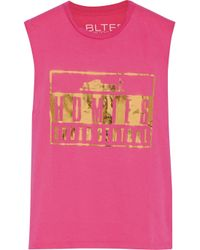 Brian Lichtenberg - Pink Homiés Advisory Foiled Cotton Tank - Lyst