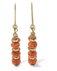 Isabel Marant - Multicolor Gold-tone, Bead And Crystal Earrings - Lyst