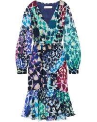 Matthew Williamson | Multicolor Printed Silk-chiffon Dress | Lyst