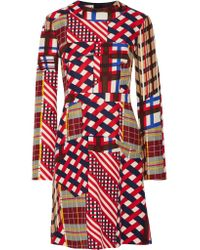 Marni | Red Printed Cotton And Silk-blend Dress | Lyst